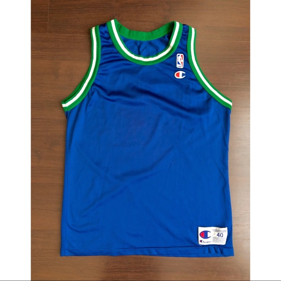 e7effa4ccbc9 Vintage Blank Dallas Mavericks Champion Jersey